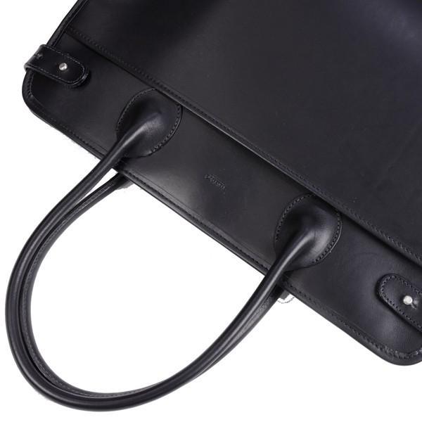 タスティング 「ジェームス」ブリーフケース サドルレザー(スペイン ミレ社製)英国製高級ビジネス書類バッグ 丸手ハンドル ブラック|eton|04