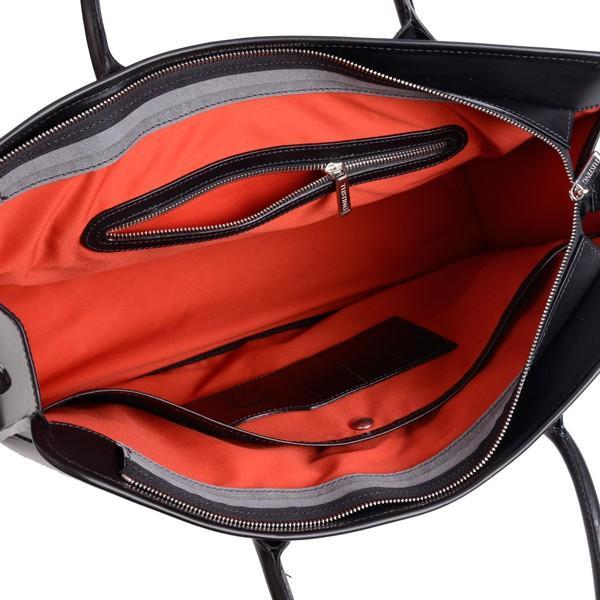 タスティング 「ジェームス」ブリーフケース サドルレザー(スペイン ミレ社製)英国製高級ビジネス書類バッグ 丸手ハンドル ブラック|eton|06