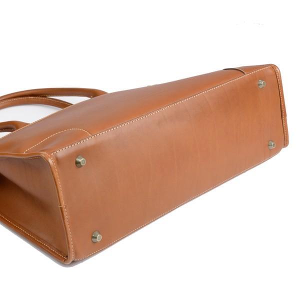 タスティング 「ジェームス」ブリーフケース サドルレザー(スペイン ミレ社製)英国製高級ビジネス書類バッグ 丸手ハンドル タン eton 05