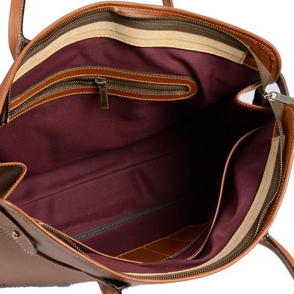 タスティング 「ジェームス」ブリーフケース サドルレザー(スペイン ミレ社製)英国製高級ビジネス書類バッグ 丸手ハンドル タン eton 06