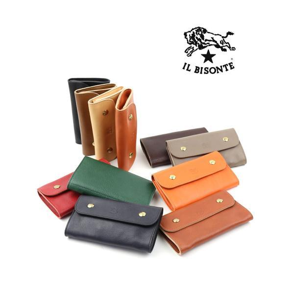 イルビゾンテ IL BISONTE レザーフラップ付き財布・411188-0061402