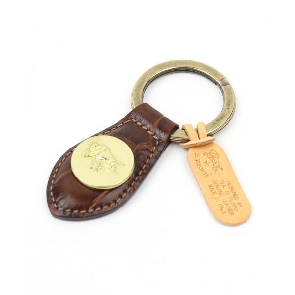 イルビゾンテ IL BISONTE 型押し レザーメダル付きキーホルダー・5432409250-0061502 メール便可能1|etre|03