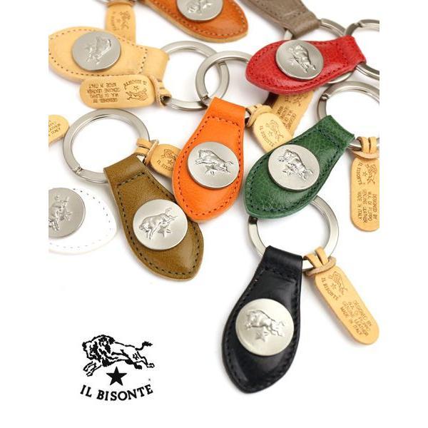 イルビゾンテ IL BISONTE レザー コンチョ メダル付き キーホルダー・5452305050-0061402 メール便可能2