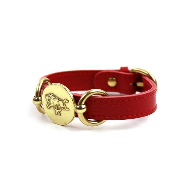 イルビゾンテ IL BISONTE レザー コンチョ メダル付きブレスレット・5482300397-0061502 メール便可能3|etre|04