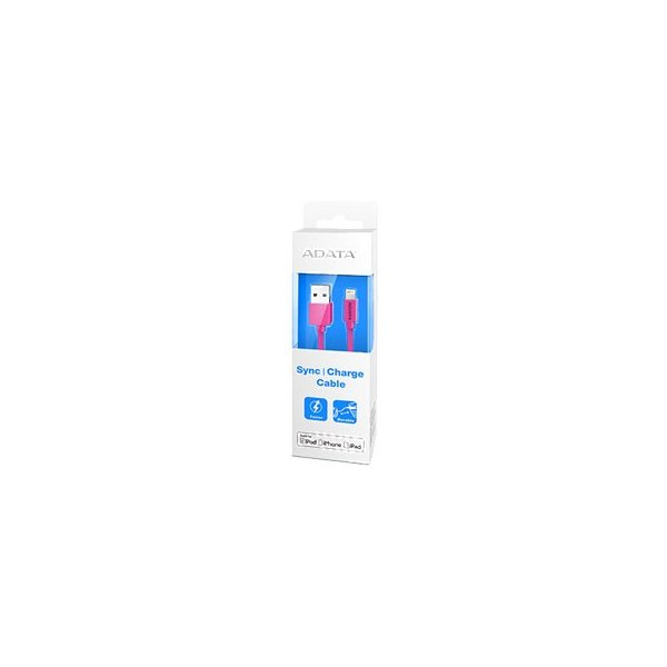 USBケーブル データ&充電用 ADATA AMFIPL-100CM-CPK [Apple MFi認証 Sync & Charge Lightning ケーブル 1m Plastic ピンク]|etrend-y