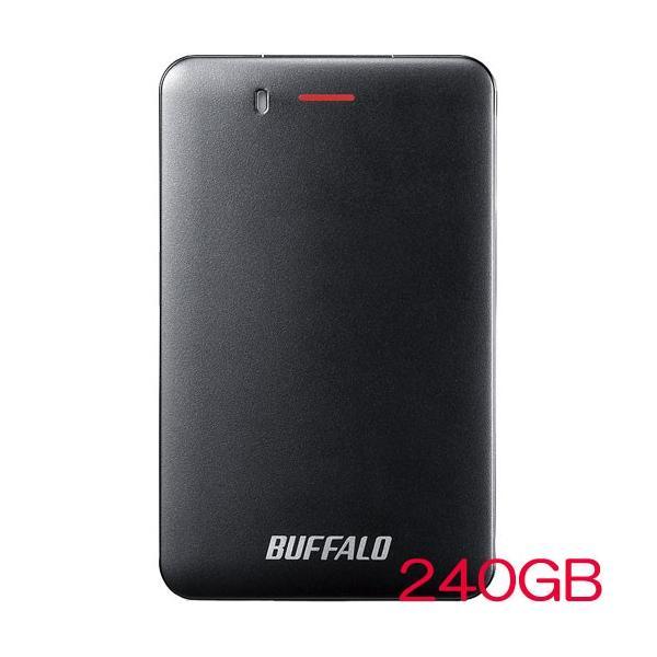 ポータブルSSD バッファロー SSD-PM240U3A-B [USB3.1(Gen1) 小型ポータブルSSD 240GB ブラック]