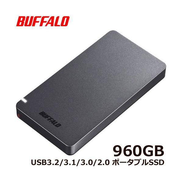 ポータブルSSD バッファロー SSD-PGM960U3-B/N [ポータブルSSD USB3.2 960GB ブラック]