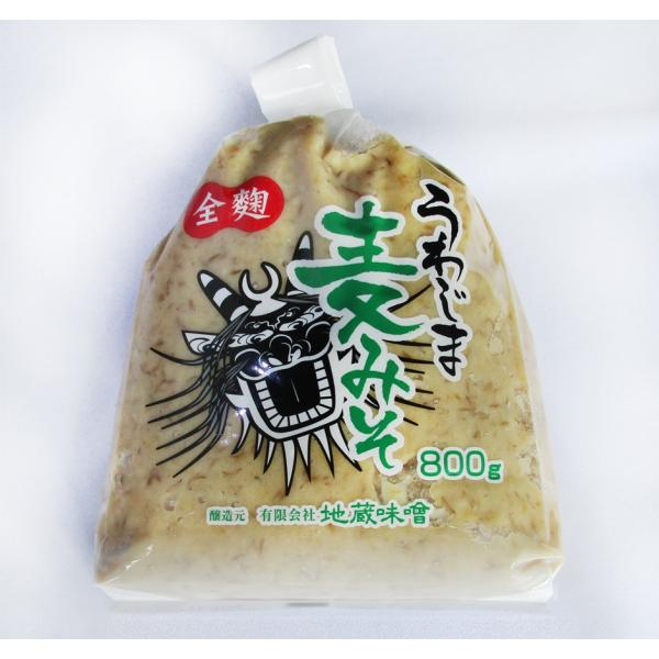 味噌 全麹うわじま麦みそ800g袋入り 地蔵 国産 大豆 甘口 味噌汁 などに