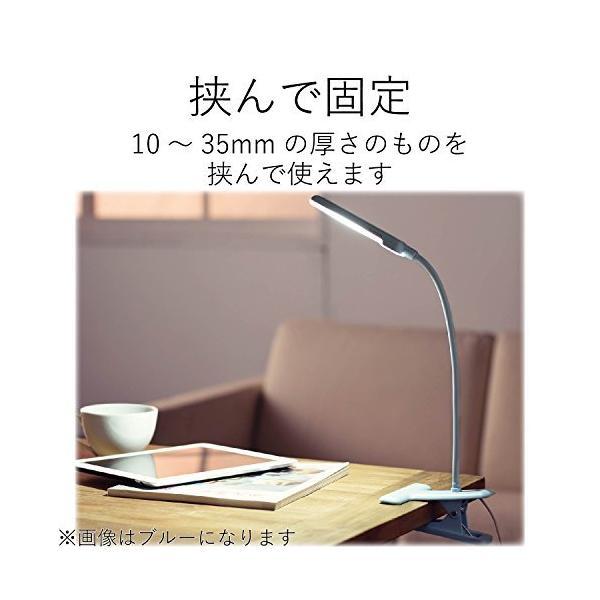 エレコム LEDクリップライト USBAC対応 タッチセンサー 広域配光 ホワイト LEC-C012WH|eureka-in-the-y|05