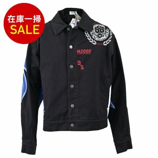 エムエスジーエム デニムジャケット MSGM 2740MH40L 84 ブラック メンズ ギフト プレゼント|eurobrand|01