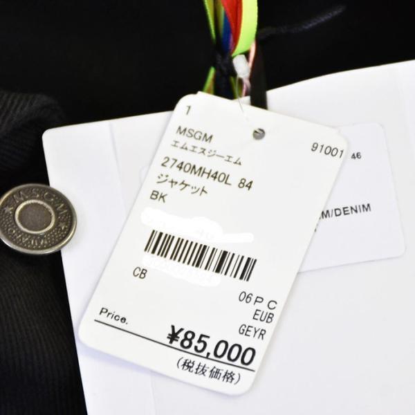 エムエスジーエム デニムジャケット MSGM 2740MH40L 84 ブラック メンズ ギフト プレゼント|eurobrand|11