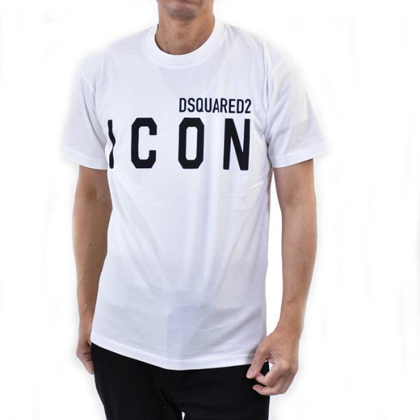 ディースクエアード 半袖 プリントTシャツ DSQUARED2 S79GC0001 S23009 100 100 ホワイト