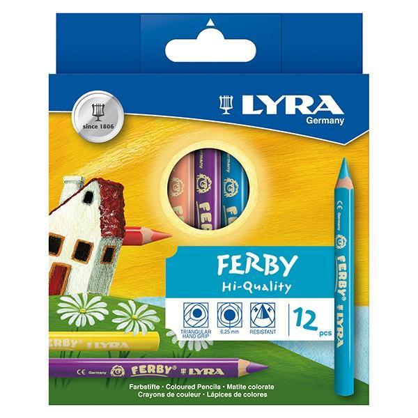 LYRA リラ社 FERBY ファルビー 色鉛筆 軸カラー 12色セット|eurobus|02