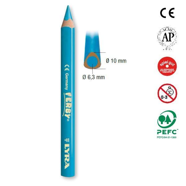 LYRA リラ社 FERBY ファルビー 色鉛筆 軸カラー 12色セット|eurobus|04