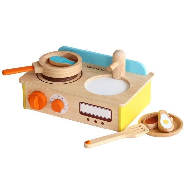 Ed.inter エドインター ジュージューくるりん!キッチン 木のままごとあそび ~ 2歳、3歳の男の子、女の子のお誕生日やクリスマスに!卓上・木製キッチンセット|eurobus|02
