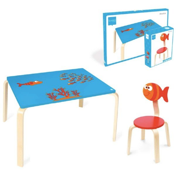 Scratch スクラッチ イス フィッシュ ~ 子供部屋のインテリアに人気、ベルギーのおもちゃメーカーScratch(スクラッチ)の子ども用の家具、木製の椅子です。|eurobus|03