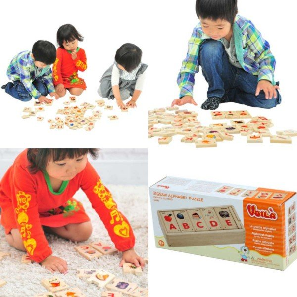 Voila ボイラ ジグソーアルファベットパズル 名入れセット3歳の男の子、女の子の誕生日プレゼントにおすすめ。タイの老舗木製玩具メーカーVoila(ボイラ)の木製知|eurobus|10