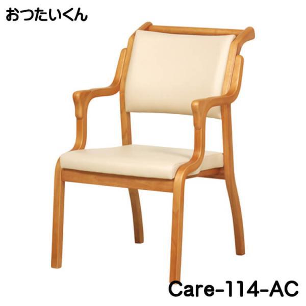 介護施設 高齢者向けの手すり付チェア 背面部に伝い棒付 肘付き椅子 肘置き 介護福祉 イス 1P 一人掛 生活サポート 送料無料