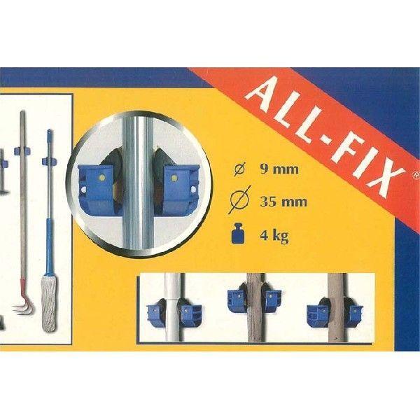 オールフィックス ALLFIX クランプ 単品 箒などの壁掛けホルダー フック 収納 ベルギー製 ネジ付