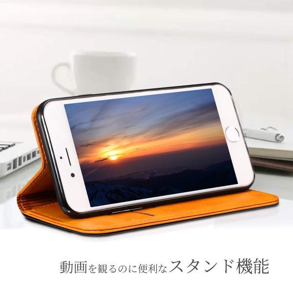 iPhone8 iPhone7 iPhone6 iPhone6s ケース アイホン8 アイフォン7 アイフォーン6 手帳型 カバー 送料無料 レザー 革 ブラウン レッド 赤 茶色 財布型 高級 eurokohaku 06