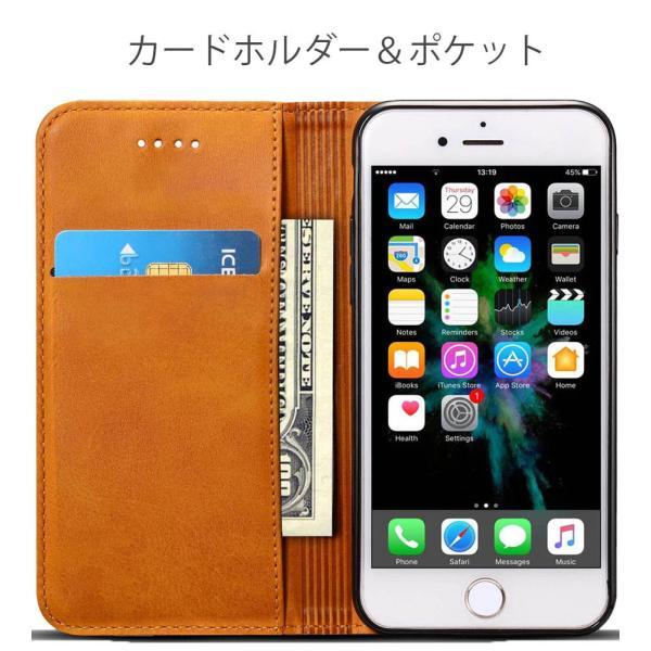 iPhone8 iPhone7 iPhone6 iPhone6s ケース アイホン8 アイフォン7 アイフォーン6 手帳型 カバー 送料無料 レザー 革 ブラウン レッド 赤 茶色 財布型 高級 eurokohaku 07