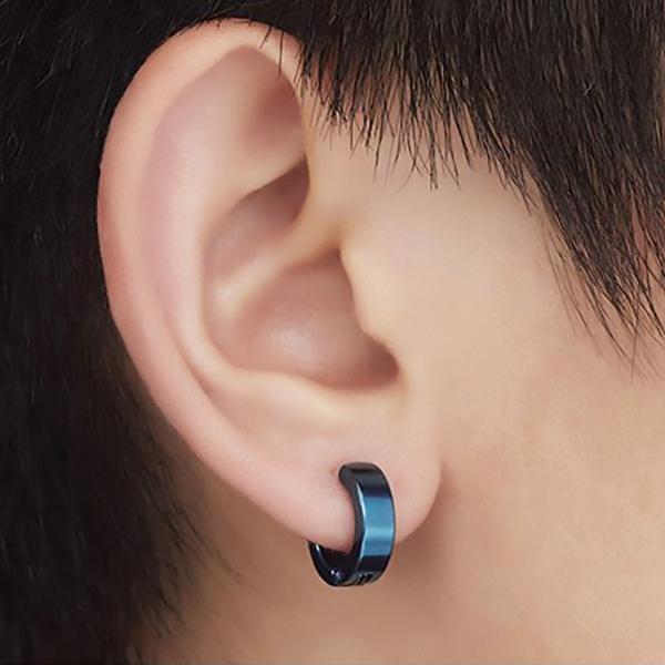 フェイクピアス イヤリング イヤカフ イヤーカフ ノンホールピアス リング型 メンズ レディース 8個セット 両耳 金属アレルギー対応 bts bigbang 金 銀 黒 青|eurokohaku|11