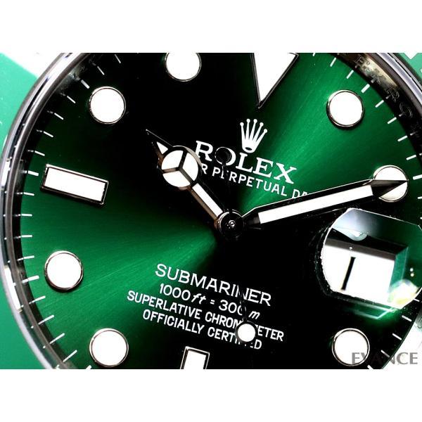 ロレックス サブマリーナデイト 116610LV グリーン メンズ ROLEX (中古)|evance-web|04