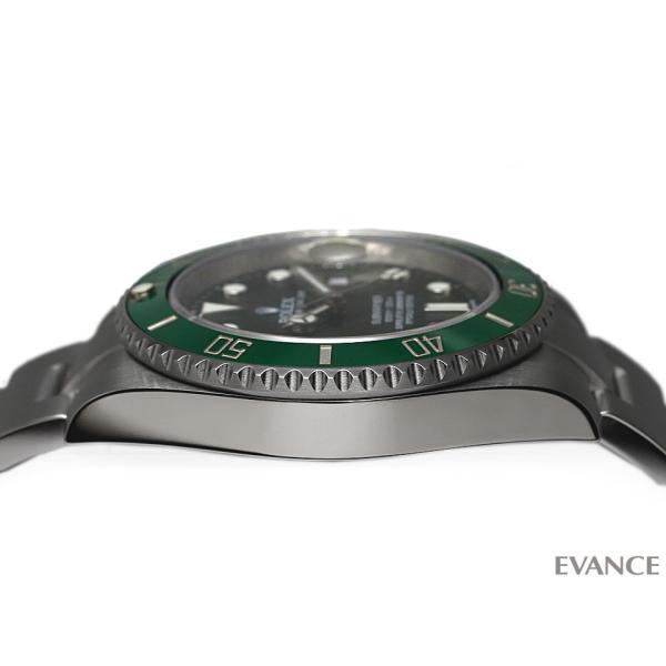 ロレックス サブマリーナデイト 116610LV グリーン メンズ ROLEX (中古)|evance-web|05