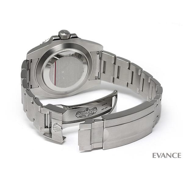 ロレックス サブマリーナデイト 116610LV グリーン メンズ ROLEX (中古)|evance-web|06