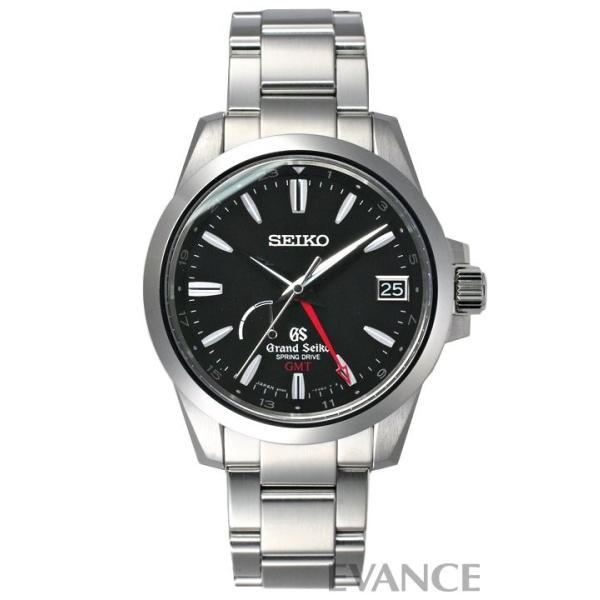 セイコー グランドセイコー GMT スプリングドライブ SBGE013 ブラック メンズ SEIKO (未使用品)