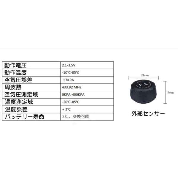 JANSITE タイヤ空気圧モニター 外部センサー TPMS 四輪監視 ソーラー式 USB給電 簡単取付け 太陽光発電 エアープレッシャーチェック|event-wristband|09