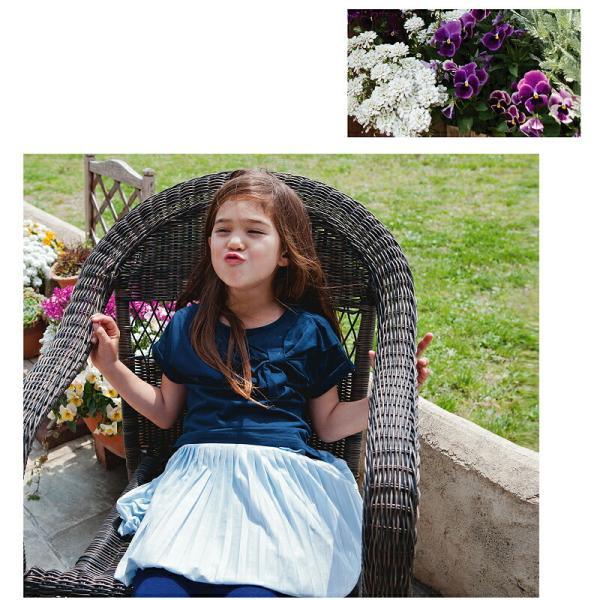 \SALE/半袖トップス 半袖Tシャツ カットソー プルオーバー バックリボン 無地 春 夏 女の子 女児 ベビー キッズ ジュニア 子供服|evercloset|08