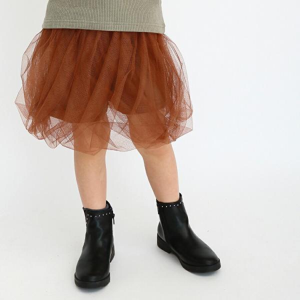 レギンス付きスカート 子供服 レギンス チュチュスカート カラバリ レース 子ども服 女の子 キッズ用 80 90 100 110 120 130|evercloset|15