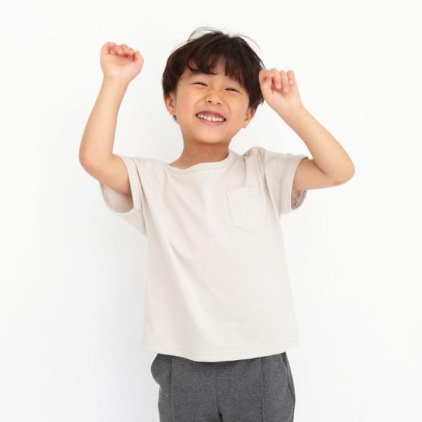 \SALE/半袖Tシャツ 子供服 無地 Tシャツ カットソー ポケット 子ども服 春 夏 女の子 男の子 キッズ 抗菌 防臭 花粉脱落 帯電防止|evercloset|07