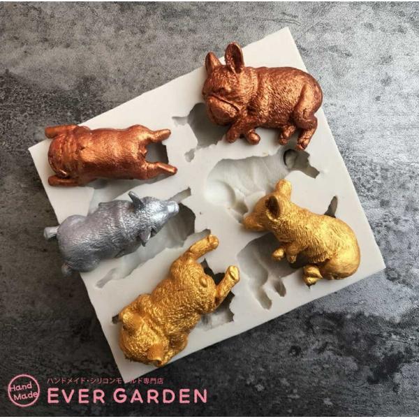 犬 猫 動物 シリコンモールド レジン アロマストーン 手作り 石鹸 キャンドル 樹脂 粘土 オルゴナイト 型 抜き型|evergarden|02