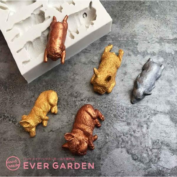 犬 猫 動物 シリコンモールド レジン アロマストーン 手作り 石鹸 キャンドル 樹脂 粘土 オルゴナイト 型 抜き型|evergarden|03