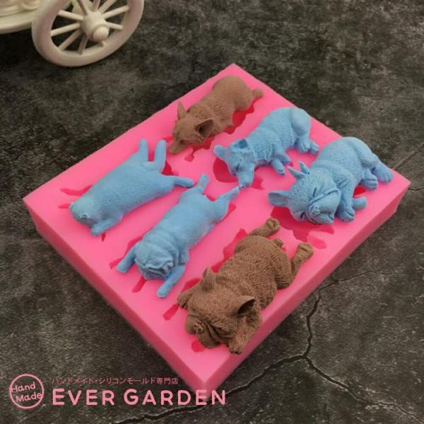 犬 猫 動物 シリコンモールド レジン アロマストーン 手作り 石鹸 キャンドル 樹脂 粘土 オルゴナイト 型 抜き型|evergarden|04