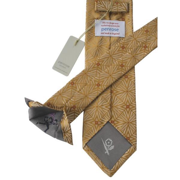 PENROSE ペンローズ(London) ネクタイ クレスト シルク ITALY製 プレゼント ギフト 結婚式 ベージュ|evergrays|04