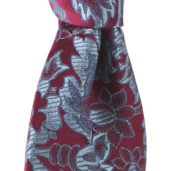 PENROSE ペンローズ(London) ネクタイ ボタニカルパターン シルク ITALY製 プレゼント ギフト お誕生日 記念日 結婚式 ワインレッド|evergrays|05