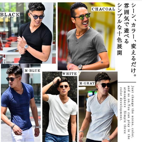 ロングTシャツ メンズ おしゃれ 無地 Vネック 半袖 七分袖 長袖 ロンT 白 黒 30代 40代 50代 2枚目半額|evergreen92|04