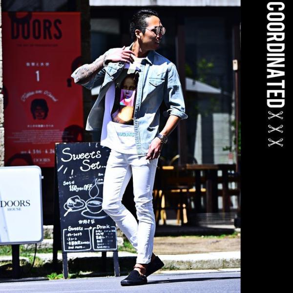 スキニー メンズ スキニーパンツ ストレッチ 大きいサイズ 新着 チノ 黒 ブラック ビジネス タイト 細め 白 ホワイト パンツ ホワイト夏|evergreen92|13