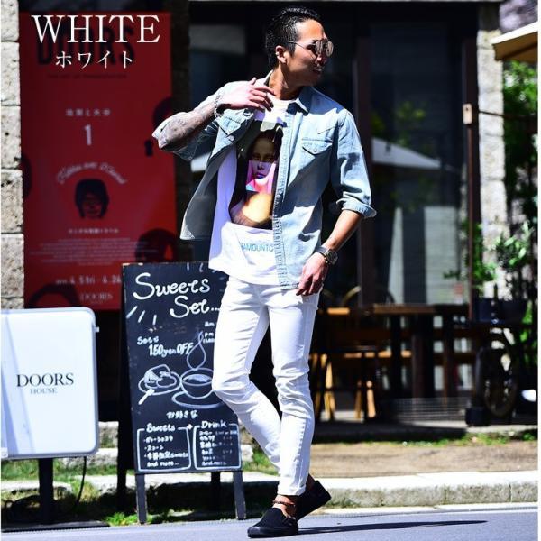 スキニー メンズ スキニーパンツ ストレッチ 大きいサイズ 新着 チノ 黒 ブラック ビジネス タイト 細め 白 ホワイト パンツ ホワイト夏|evergreen92|06