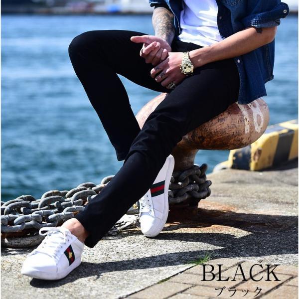 スキニー メンズ スキニーパンツ ストレッチ 大きいサイズ 新着 チノ 黒 ブラック ビジネス タイト 細め 白 ホワイト パンツ ホワイト夏|evergreen92|09