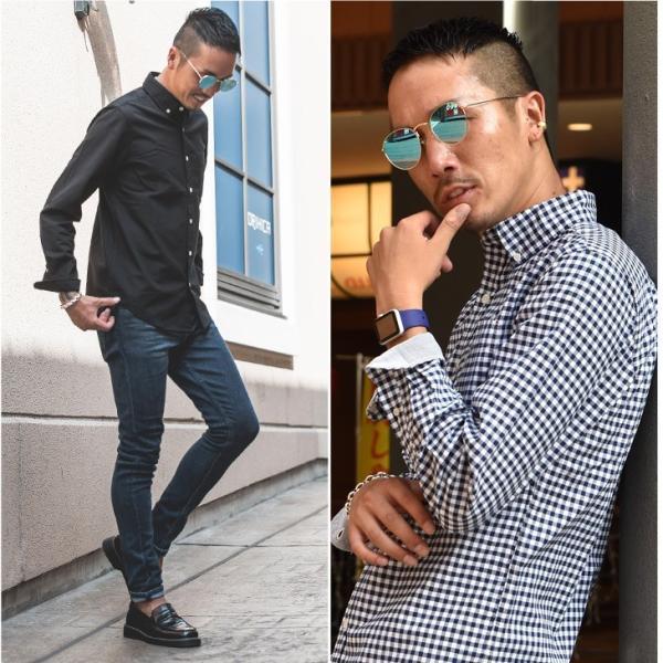 シャツ メンズ 長袖シャツ 長袖 オックスフォードシャツ コットンシャツ メンズシャツ ボタンダウンシャツ チェック柄 ストライプ|evergreen92|11