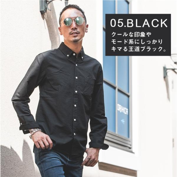 シャツ メンズ 長袖シャツ 長袖 オックスフォードシャツ コットンシャツ メンズシャツ ボタンダウンシャツ チェック柄 ストライプ|evergreen92|12