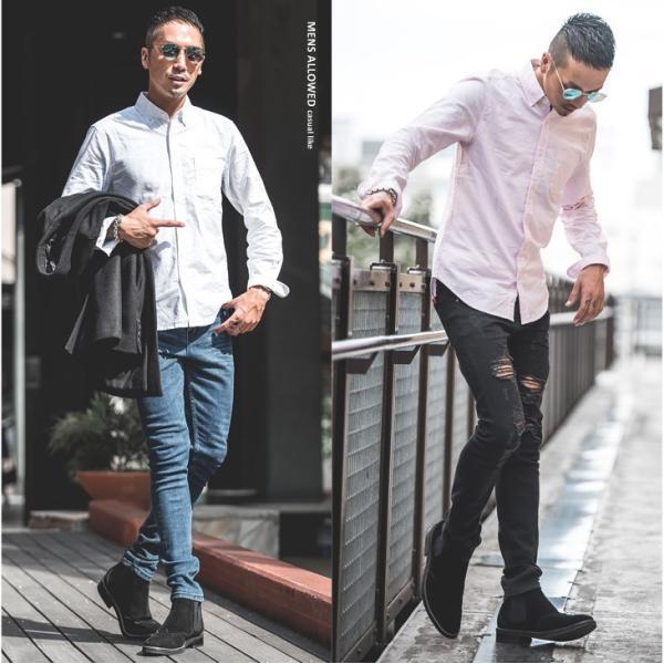 シャツ メンズ 長袖シャツ 長袖 オックスフォードシャツ コットンシャツ メンズシャツ ボタンダウンシャツ チェック柄 ストライプ|evergreen92|07