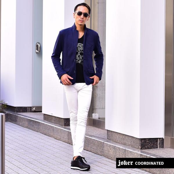 ジャケット メンズ テーラードジャケット スウェット テーラードジャケット アウター 柄 チェック 大きいサイズ スーツ|evergreen92|12