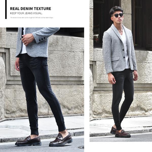 ジョガーパンツ メンズ デニム スウェットパンツ スウェット スウェットデニム カットデニム スリム ジョガー パンツ 大きいサイズ 小さいサイズ|evergreen92|13