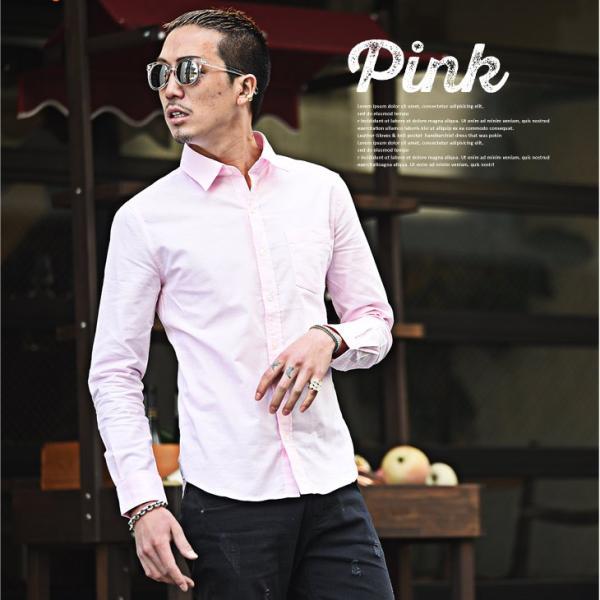 シャツ メンズ 長袖シャツ 長袖 メンズシャツ ワイシャツ Yシャツ コットンシャツ ストレッチ物服 メンズファッション|evergreen92|11