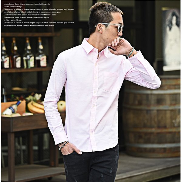 シャツ メンズ 長袖シャツ 長袖 メンズシャツ ワイシャツ Yシャツ コットンシャツ ストレッチ物服 メンズファッション|evergreen92|13